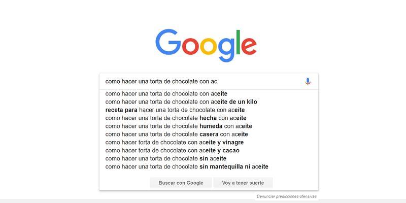 cómo buscar en Google en forma descriptiva