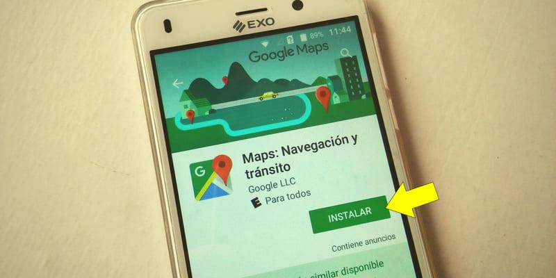 cómo usar google maps en el celular