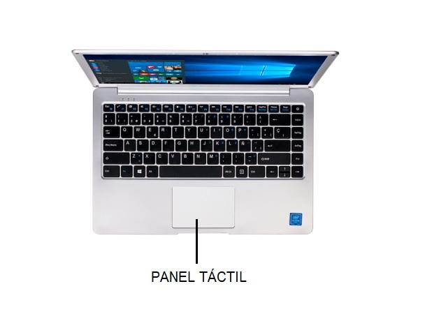 panel táctil de notebook